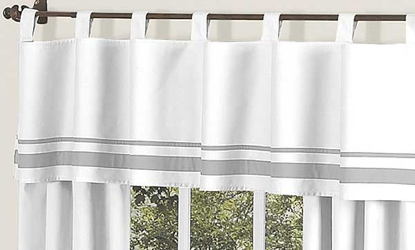 window rod solid pocket designs valance silver gray large balloon style carousel