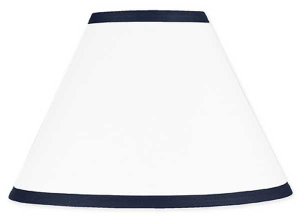 Hotel White & Navy Blue Lamp Shade