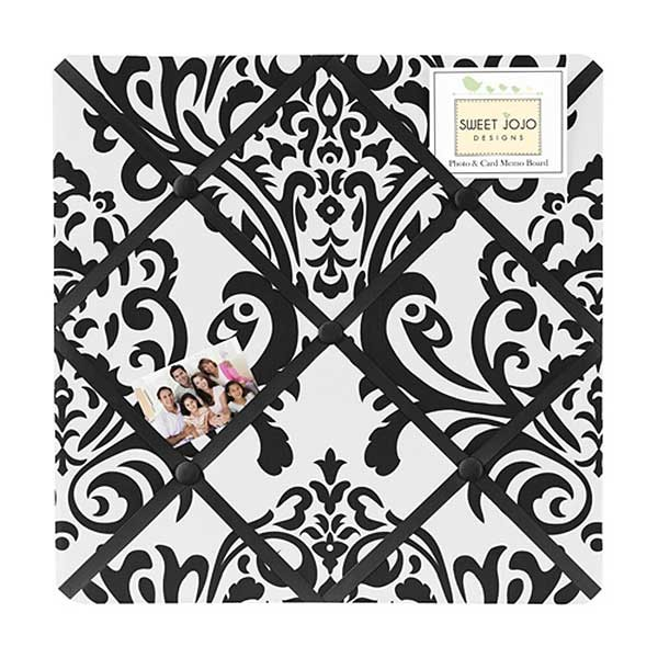 Isabella Black Fabric Memo Board