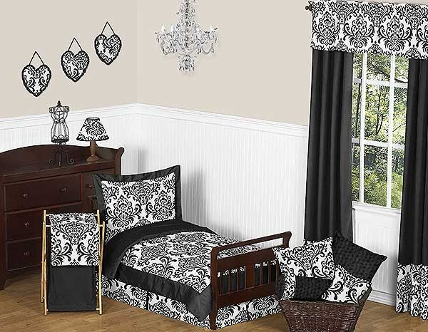 Isabella Black Toddler Bedding Set By Sweet Jojo Designs
