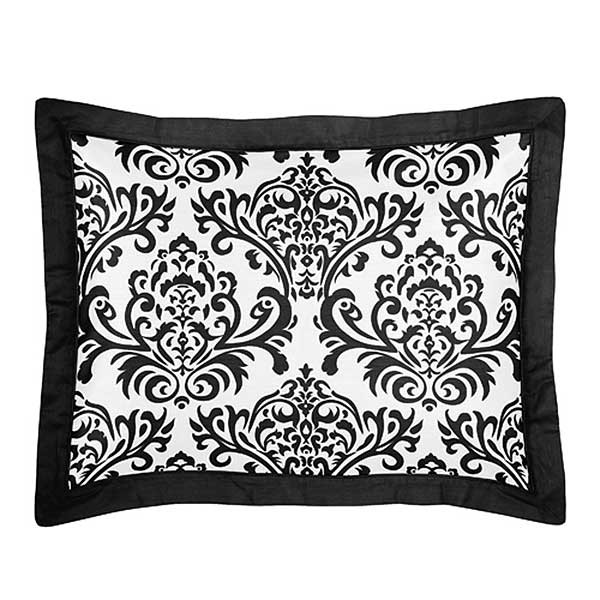 Isabella Black Pillow Sham