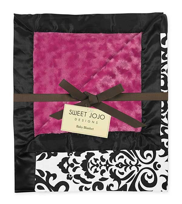 Isabella Hot Pink Minky Baby Blanket