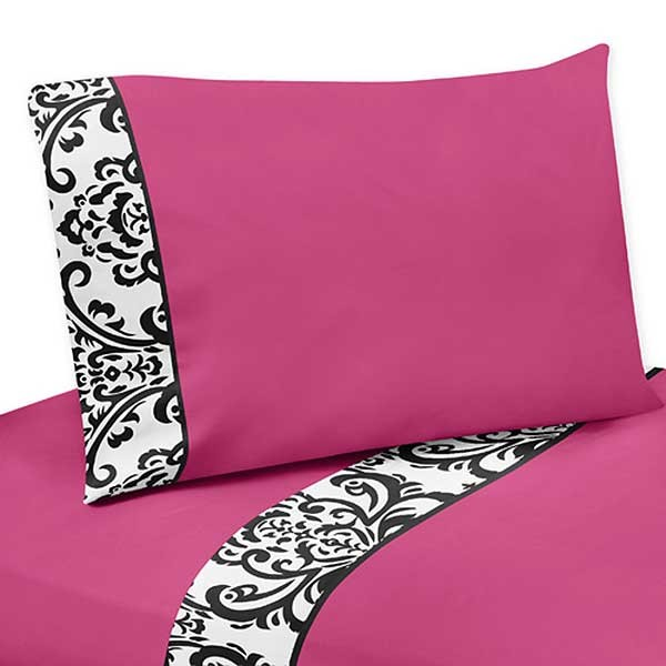 Isabella Pink Twin Size Sheet Set