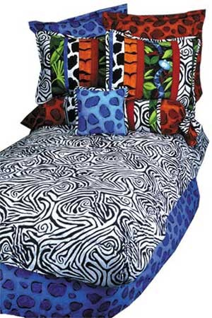 Jungle Jive Sheet Set  (Royal Blue)
