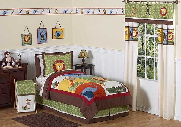 Jungle Time Comforter Set - 3 Piece Full/Queen Size By Sweet Jojo Designs