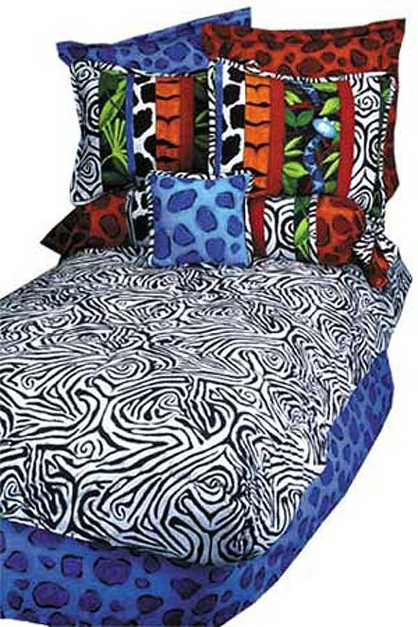Jungle Jive Bunk Bed Hugger Comforter by California Kids - Zebra Print