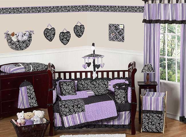 Kaylee Crib Bedding Set by Sweet Jojo Designs - 9 piece