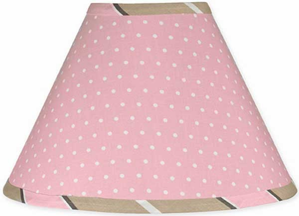 Pink and Brown Mod Dots Lamp Shade