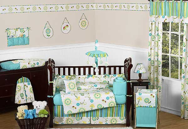 Layla Crib Bedding Set by Sweet Jojo Designs - 9 piece