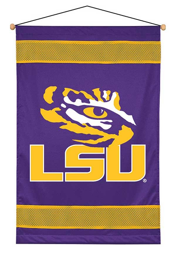 LSU Tigers Sideline Wall Hanging - 28 X 45
