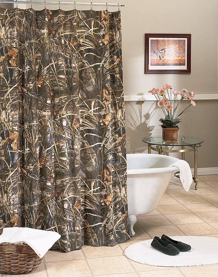 Realtree Max-4 Camouflage Shower Curtain
