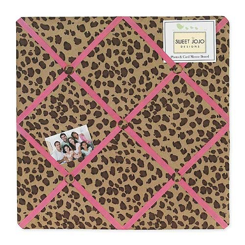 Cheetah Pink Fabric Memo Board