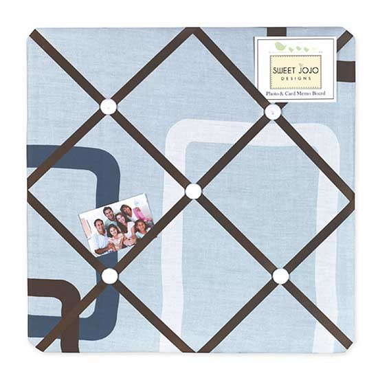 Geo Blue Fabric Memo Board