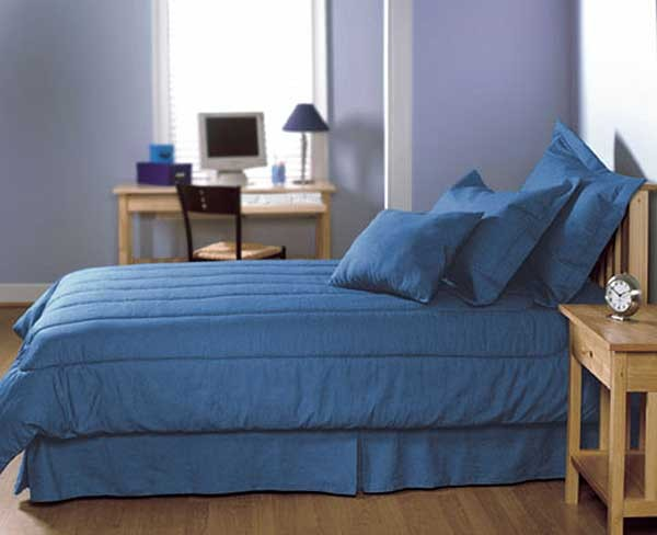 Real Blue Jean XL Twin Size Comforter - Dark Indigo Denim for Dorm Rooms