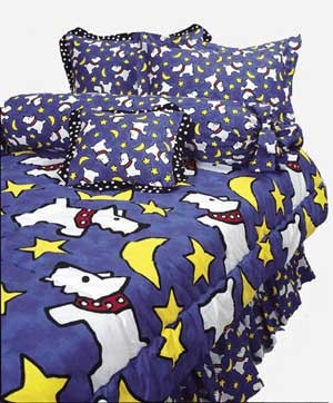 Moon Doggie Print Sheet Set