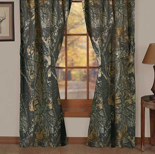 Mossy Oak New Break Up Camouflage Curtain Panels