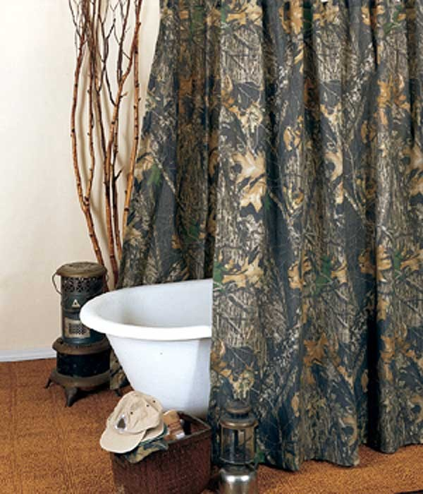 Hookless Brand Shower Curtain Mossy Oak Tumbler