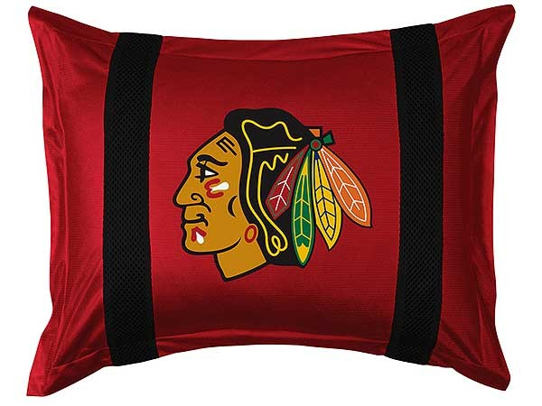 Chicago Blackhawks Sideline Pillow Sham