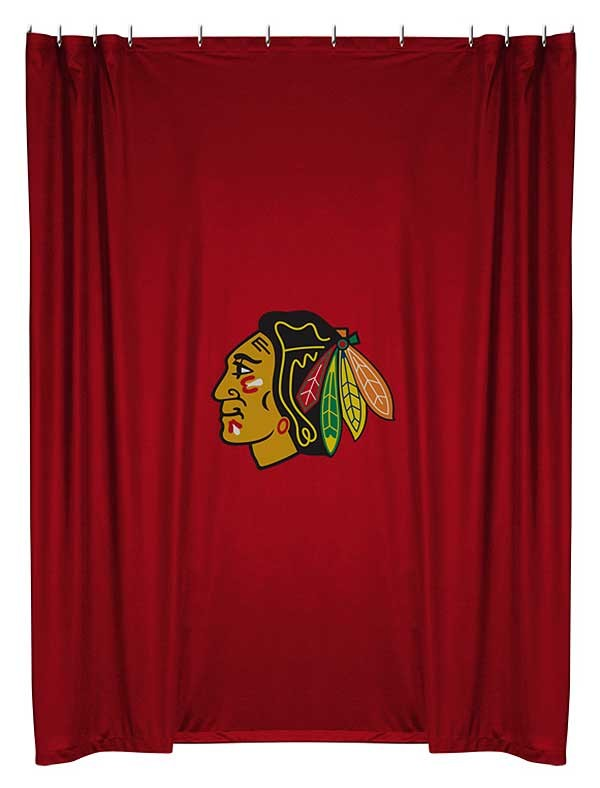 chicago blackhawks shower curtain blanket warehouse