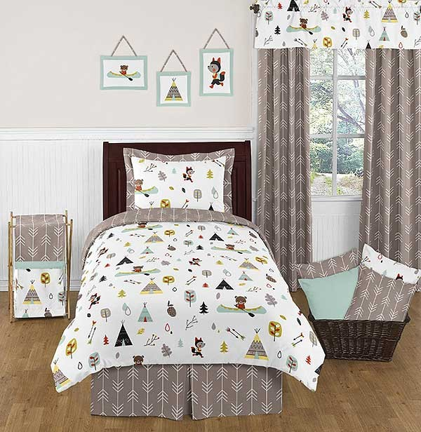 Outdoor Adventure Bedding Set 4 Piece Twin Size By Sweet