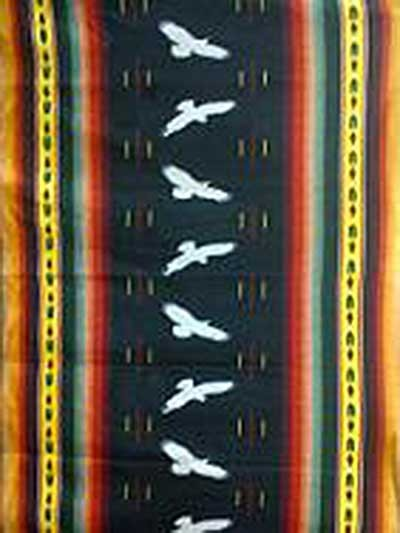 Eagle Stripe Polar Fleece Throw Blanket