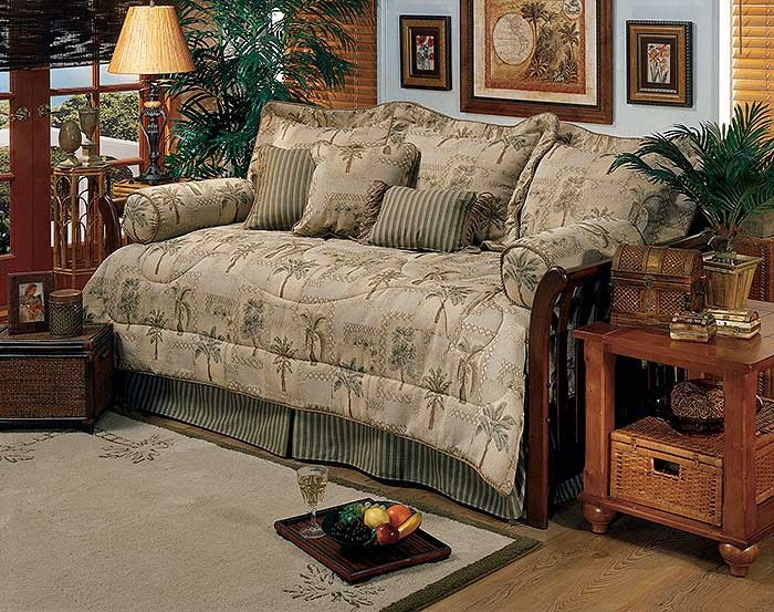 Palm Grove Tropical Daybed Bedding Set. Palm Grove Tropical Daybed Bedding Set   Blanket Warehouse