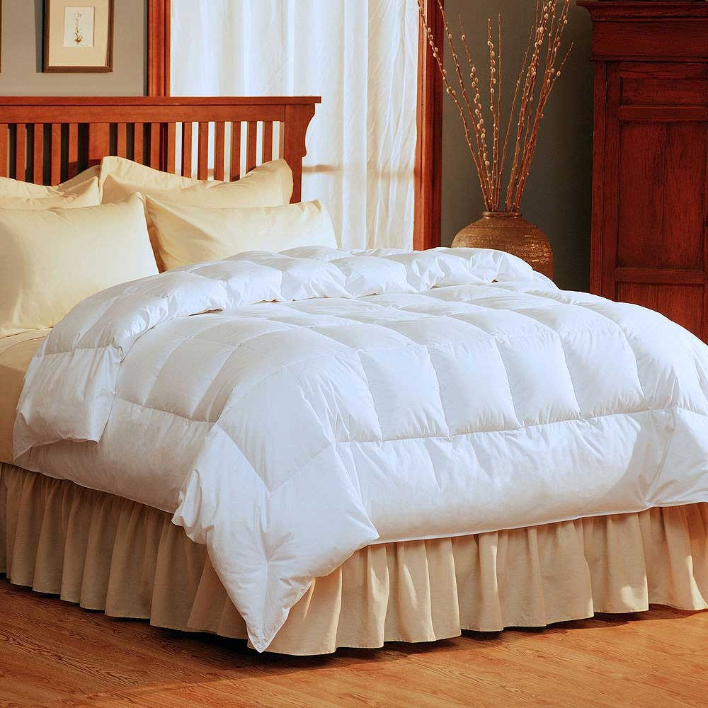 Why you'll love it: The LaCrosse Down Comforter from The Company Store works great in all seasons and it comes in fun color choices.. If you're tired of boring white comforters and want to add a.