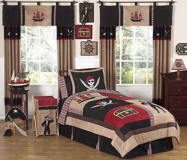 Pirate Treasure Cove Bedding Set - 4 Piece Twin Size By Sweet Jojo Designs