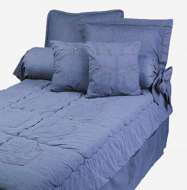 Denim Extra Long Twin Size Hugger Style Comforter by California Kids