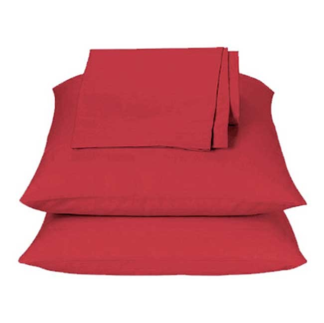Primary Colors Sheet Set - Red - Twin Size