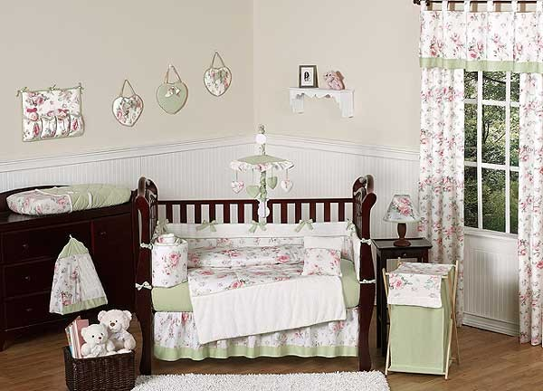 Rileys Roses Crib Bedding Set by Sweet Jojo Designs - 9 piece