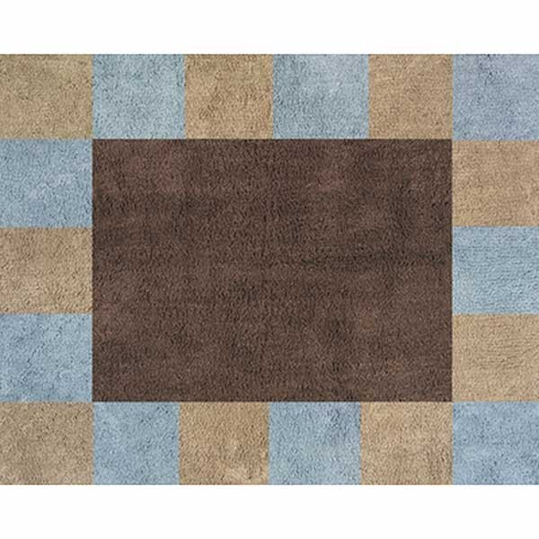 Soho Blue and Brown Floor Rug