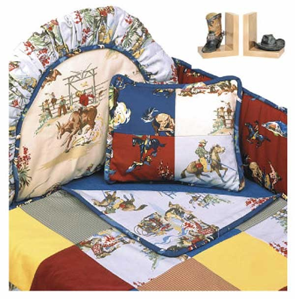 Rodeo Western Themed Baby Bedding Set (Standard Bumper) by California Kids