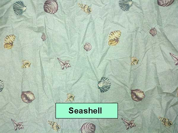 Seashell Print Waterbed Sheet Set by Mayfield