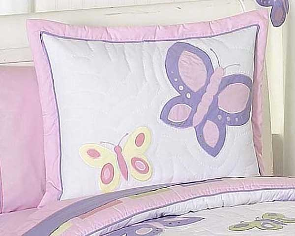 Butterfly Pink & Lavender Pillow Sham