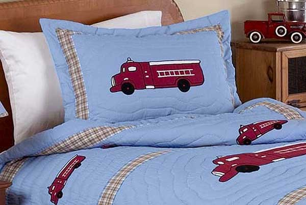 Frankies Firetruck Pillow Sham