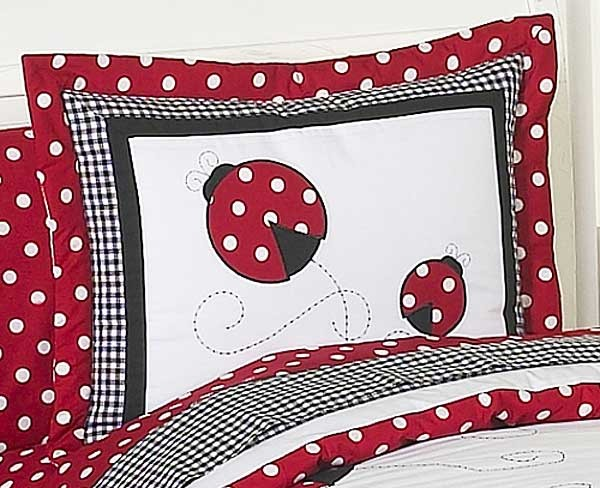 Little Ladybug Pillow Sham