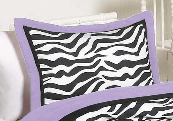 Purple Zebra Pillow Sham
