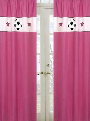 Pink Soccer Window Panels