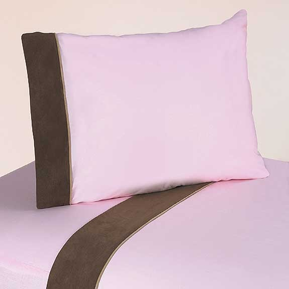 Soho Pink and Brown Sheet Set