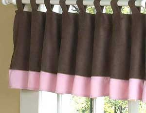 Soho Pink and Brown Valance