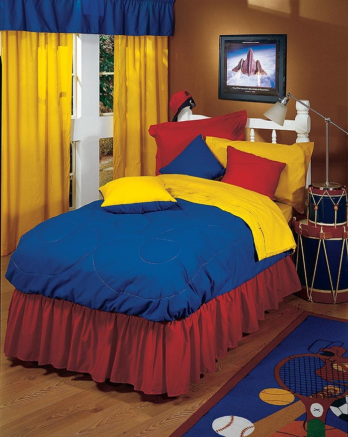 Red/Blue Bunkbed Comforter - Full Size from the Primary Colors Collection