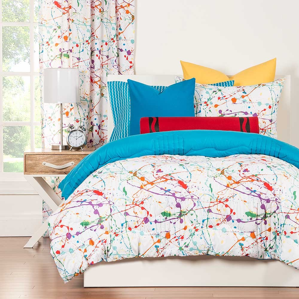 Bed sheets for teenagers - Splat Comforter Set From Crayola