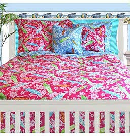 Surfer Girl XL Twin Fitted Comforter for College Dorms by California Kids