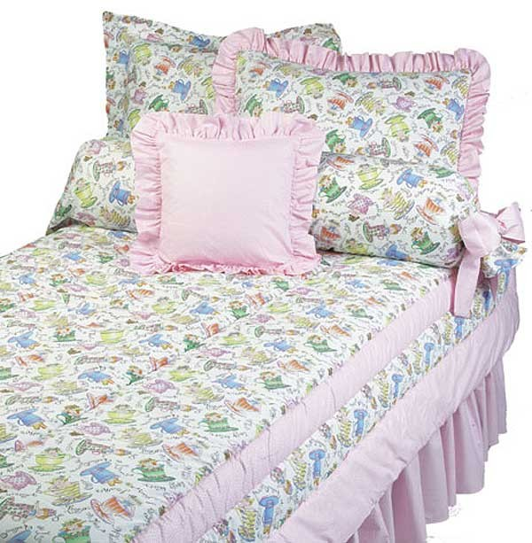 Tea Party Bunk Bed Hugger Comforter by California Kids (Clearance)
