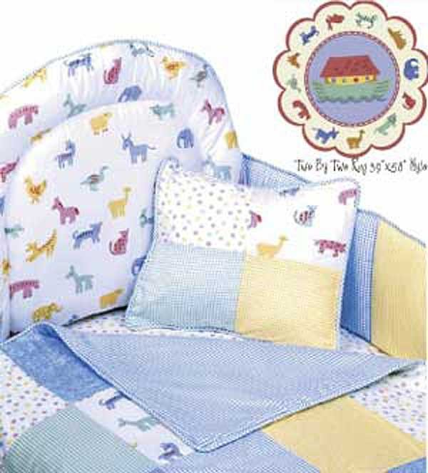 Two by Two 4 Piece Crib Bedding Set (Hollywood Bumper) by California Kids
