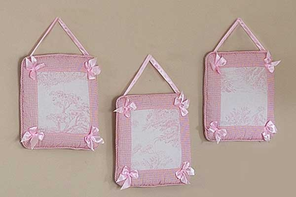 Pink French Toile Wall Hanging