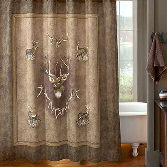 Whitetail Ridge Shower Curtain Blanket Warehouse