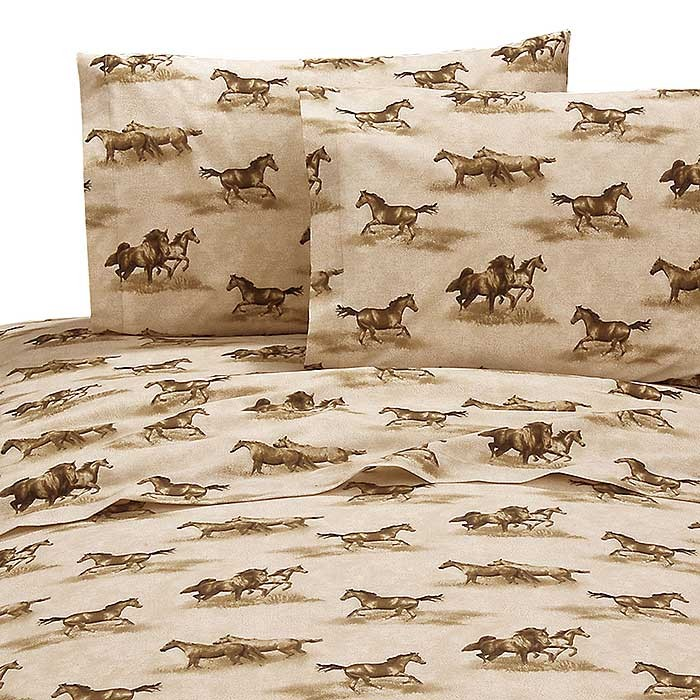 Wild Horses Sheet Set - Twin Size