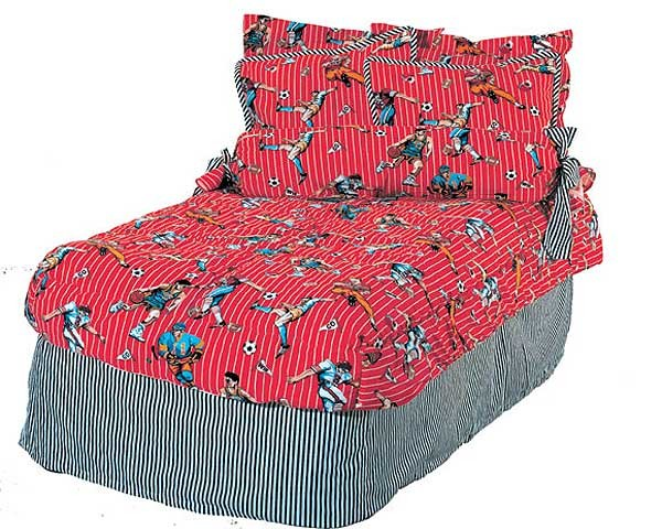 World Cup Sports XL Twin Fitted Comforter for College Dorms by California Kids